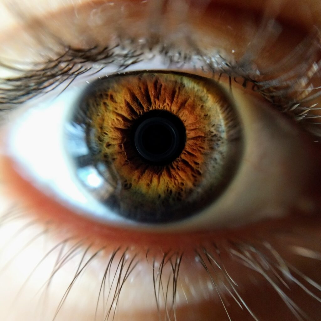 Close up of a person's eye